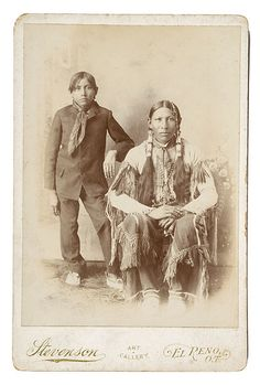 Southern Cheyenne Gallery | Little Bighorn History Alliance ~ www.littlebighorn.info.    Father and son 1900