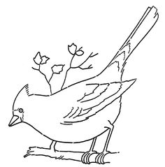Coloring Pages Red Bird Refrence Line Art Coloring Page Cardinal On Branch the Graphics Fairy Drawing Pictures Of Birds, Bird Drawings, Pictures To Draw, Painting Patterns, Fabric Painting, Bird Line Drawing, Eagle Drawing, Drawing Birds, Drawing Art