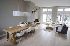 Wohn- Esszimmer mit Holzofen ähnliche tolle Projekte und Ideen wie im Bild vorgestellt findest du auch in unserem Magazin
