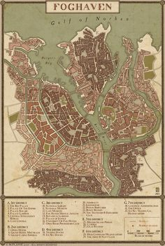 A quick map of the city of Northgate; ruling city in The Landing in the High…