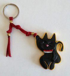 (93) Gato6 Maneki Neko, Personalized Items, Key Fobs, Schmuck