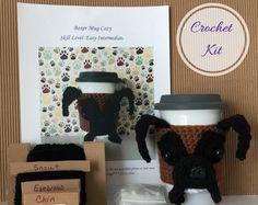 Crochet Boxer, Amigurumi Kit, Crocheting Kit, Crochet Pattern Dog, Crochet Kit, Crochet Gifts, Crochet Dog Pattern, Dog Crochet Pattern