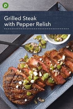 Goat cheese and charred peppers add Earthy smoke. Recipes With Beef Liver, Best Beef Recipes, Fun Easy Recipes, Grilling Recipes, Cooking Recipes, Healthy Recipes, Mushroom Side Dishes, Homemade Chinese Food, Publix Recipes