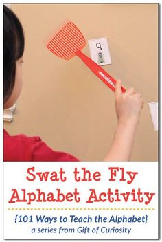 "Fly gross motor alphabet activity Ways to Teach the Alphabet} Swat the Fly Alphabet Activity: Grab a copy of this free printable that helps kids learn their letters while ""swatting flies"" on the wall. This activity is great for kids who love to move! Gross Motor Activities, Alphabet Activities, Alphabet Crafts, Alphabet Letters, Teaching The Alphabet, Teaching Kids, Learning Activities, Kids Learning, Educational Activities"