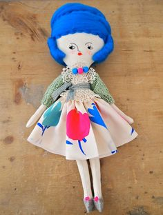 "Miss Mouse rag doll ""Cecily"" - Jess Quinn"