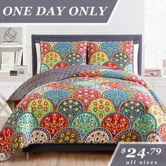 Looking to refresh the bedroom or guest room? You're in the right place—today only, we've got three-piece quilt sets at prices that only exist in your dreams.