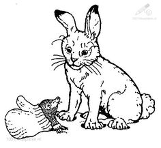 The Rabbit From Mitten Coloring Page