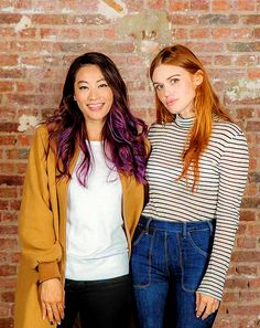 Arden Cho and Holland Roden portrait for Werewolf Con II
