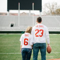 20 Save the Date ideas... Cute suggestions but I like the jerseys for sure!