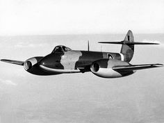 A Gloster Meteor F.3 of Royal Air Force 616 Squadron in flight, 1944