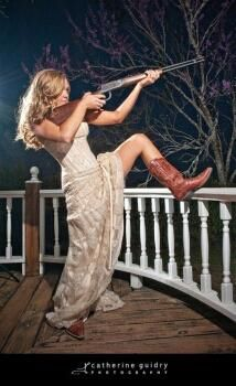 "Gives a whole new meaning to ""shotgun wedding!!"" Love it!"