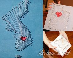 The How-To Gal: Tutorial: State Nail and String Art
