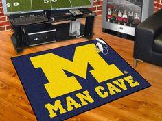 """Michigan Man Cave All-Star Mat 33.75""""x42.5"""""""
