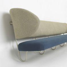 Finn Juhl, Custom Wall-Mounted Sofa from Villa K. Kokfeldt, 1953.