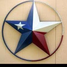 Painted metal star