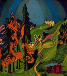 Ernst Ludwig Kirchner, Autumnal Landscape, 1936