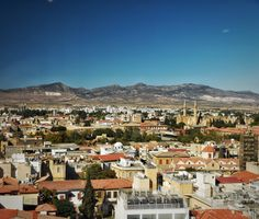 View of North Cyprus from the Ledra Street Observatory Visit Cyprus, Nicosia Cyprus, North Cyprus, Saint Helens, Cyprus News, Paphos, Limassol, Zaha Hadid Architects, Beach Hotels