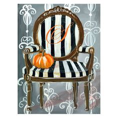 Drooz Studio Canvas Wall Art Haunted Parlor Chair from @LaylaGrayce #laylagrayce #holidays #halloween2012