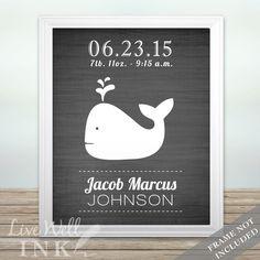 Whale Announcement - Print