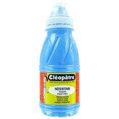 Gouache Cléopâtre - Néfertari fluo - Bleu - 250 ml