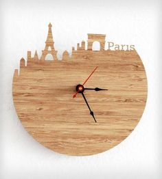Paris Modern Wall Clock | Gifts Local Pride | iluxo Jewelry and Design | Scoutmob Shoppe | Product Detail