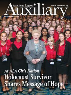 Auxiliary magazine, Vol. American Legion Auxiliary, American Legions, Holocaust Survivors, Message Of Hope, Magazine Covers, November