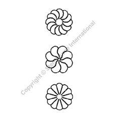 """Continuous Line Quilting Stencils > 1/2"""" - 2"""" Border C.L. - Item: 3"""" on QuiltingCreations.com"""