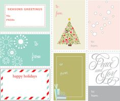 Free Printable Holiday Labels