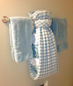 creative ways to display towels in bathroom | Hand towel display for guest bath | For
