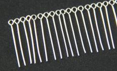 100 x Silver Eye Pins  Silver Bead Pins 30mm by DisSupplies, $2.50