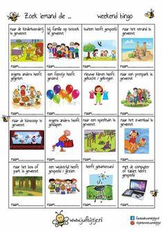 Zoek iemand die...... Weekend bingo - jufbijtje.nl