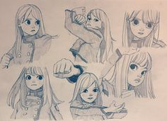 Keyakizaka46 - Discord Drawing Cartoon Faces, Cartoon Sketches, Manga Drawing, Cute Drawings, Art Sketches, Art And Illustration, Anime Kunst, Anime Art, Reference Manga