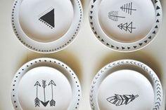 Platos decorados con dibujos diy