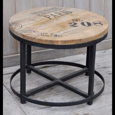 Translating into a Soho industrial decor or the vintage style of a French interior, the Paris Round Occasional Table combines rustic materials with an urban edge.