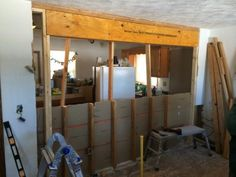 New 21ft Beam To Replace Load Bearing Wall Stuff I Dig