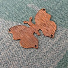 Oxidised Copper Butterfly pendant or charm  by daisychainextra, £7.00
