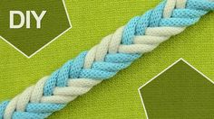 How to Make a 6-Strand Braid in 2 colors #howto #braid #6strands