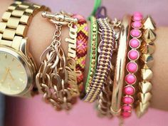 stacks upon stacks of bracelets!