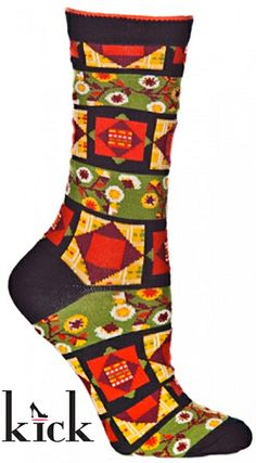 Ozone Socks Square Diamond Quilt Crew Sock, Price: $15.00