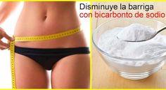 Trucos con bicarbonato de sodio para reducir barriga