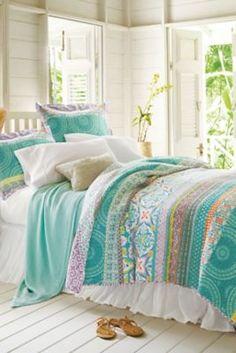 Positano Quilt - Reversible Summer Quilt, Light Quilt For Summer   Soft Surroundings