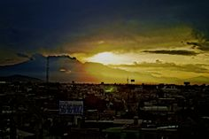 Puebla sunset; amazing light!
