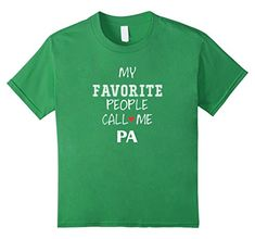 Kids Pa - My Favorite People Call Me Pa T-shirt 4 Grass P... https://www.amazon.com/dp/B01D3JRTWG/ref=cm_sw_r_pi_dp_U_x_U4TrAb6NXZK9D