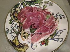 Pomegranate,  fennel and prosciutto salad