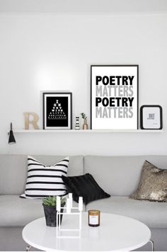 Poetry Matters Typography Art Print Poster by LoveSignBoutique, $45.00