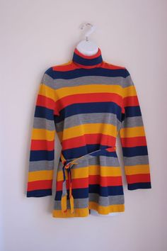 Vintage striped turtleneck sweater ladies s/m by fuzzymama on Etsy