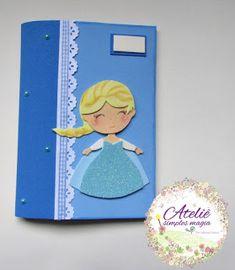 Capa de caderno em eva.  Tema Frozen            Beijos  Sabrina