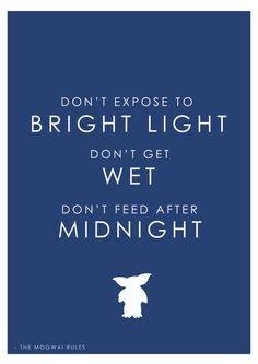 Gremlins Quotation print