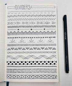 Trying out some cool page ideas -My dividers! Trying out some cool page ideas - Tim Holtz Cling Stamp Set - Ornate Trims My dividers! Trying out some cool page ideas My dividers! Trying out some cool page ideas Bullet Journal collection Bullet Journal Dividers, Bullet Journal Titles, Bullet Journal Banner, Journal Fonts, Bullet Journal Notebook, Bullet Journal Aesthetic, Bullet Journal Inspiration, Journal Ideas, Bullet Journal Year At A Glance