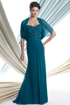 Mother of the Bride Dresses    Dark Teal Evening Gown